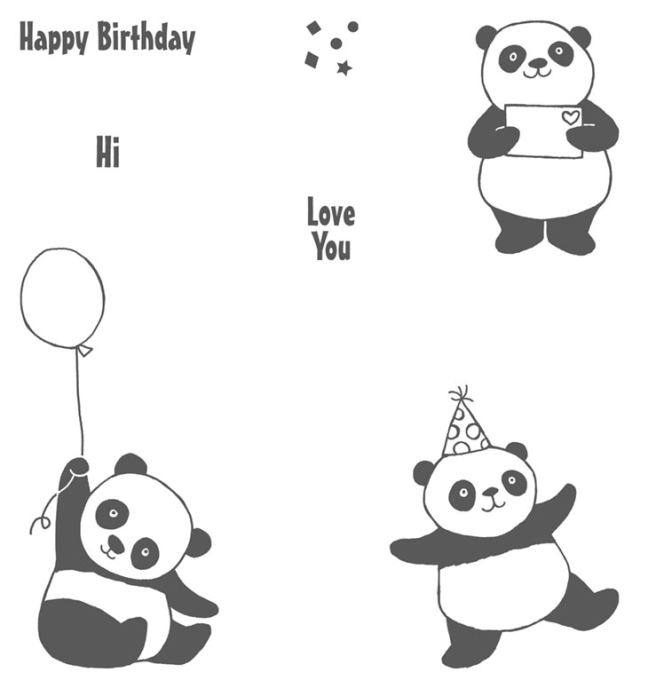 Party Pandas Stamp Set - Free during Sale-A-Bration