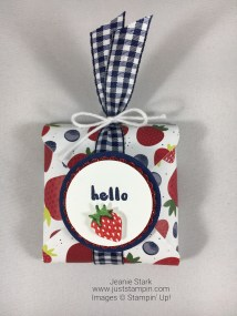 Stampin Up Fruit Basket Bundle candy treat holder idea made with the Envelope Punch Board - Jeanie Stark StampinUp