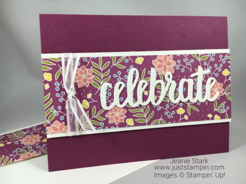 Stampin Up Sweet Soiree Celebrate card idea - Jeanie Stark StampinUp