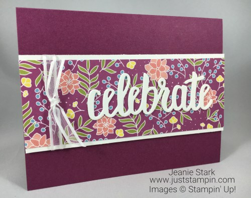 Stampin Up Sweet Soiree Celebrate You card idea - Jeanie Stark StampinUp