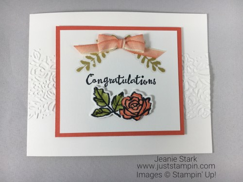 Stampin Up Petal Palette Wedding, Anniversary, or Baby Card idea - Jeanie Stark StampinUp