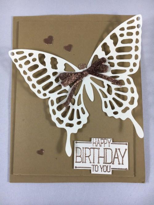 Stampin Up Butterflies Thinlits birthday card idea - www.juststampin.com Jeanie Stark StampinUp