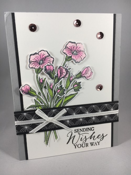 Stampin Up Butterfly Basics birthday card idea - For inspiration, tips, ordering, and more visit www.juststampin.com Jeanie Stark StampinUp