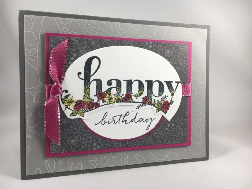 Stampin Up Happy Wishes birthday card idea - For inspiration and to order Stampin' Up! supplies, visit www.juststampin.com Jeanie Stark StampinUp