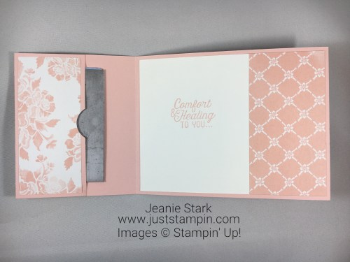 Stampin Up Ribbon of Courage gift card holder idea - Jeanie Stark StampinUp