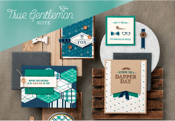 Stampin Up True Gentleman masculine card ideas for birthday and Father's Day - Jeanie Stark StampinUp