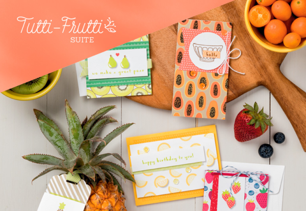 Stampin Up Tutti-Frutti Suite card and tag ideas - Jeanie Stark StampinUp