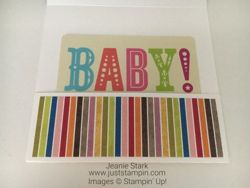 Stampin Up Moon Baby gift card holder baby card idea - Jeanie Stark StampinUp