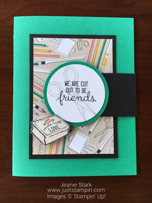 Stampin Up Crafting Forever fun fold friend card idea - Jeanie Stark StampinUp