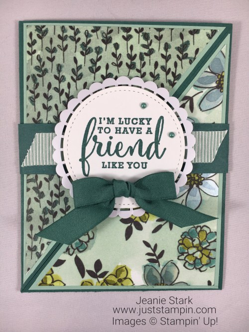 Stampin Up Share What You Love friend card idea - Jeanie Stark StampinUp