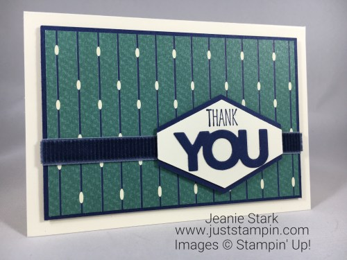 Stampin Up True Gentleman thank you card idea- Jeanie Stark StampinUp