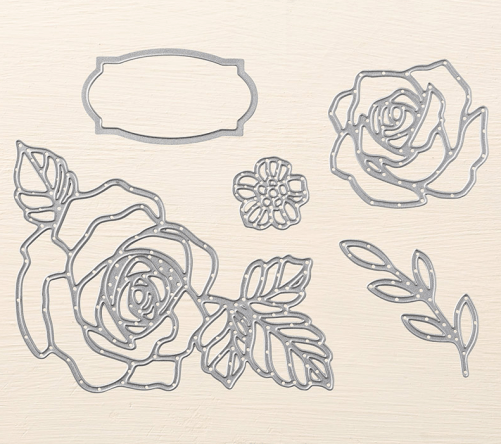 Stampin Up Rose Garden Thinlits - Last Chance Product! For ideas and ordering information visit www.juststampin.com Jeanie Stark StampinUp
