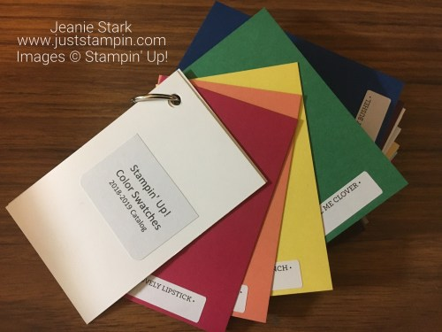 Stampin Up NEW Color Coach and Swatch Book - Available from Jeanie Stark www.juststampin.com StampinUp