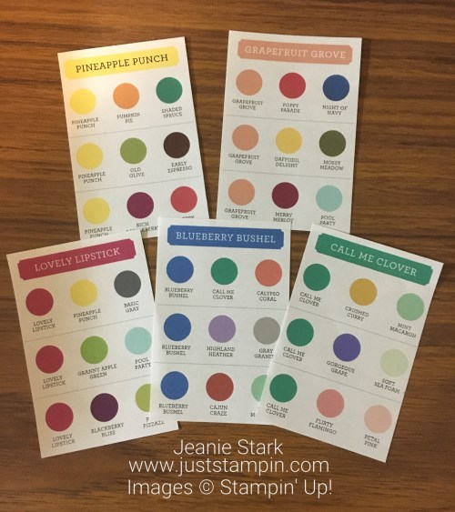 Stampin Up Color Coach - visit www.juststampin.com for color inspiration and to download your copy - Jeanie Stark StampinUp