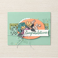 Share What You Love congratulation card idea