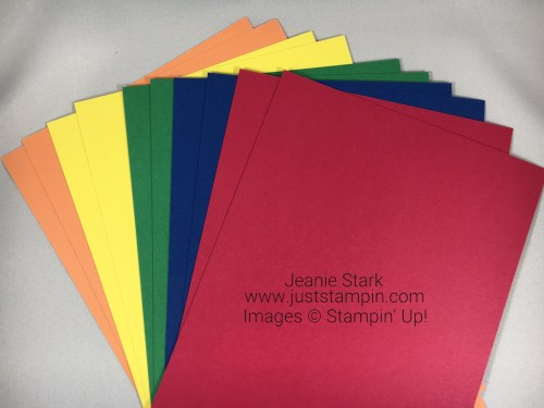 Stampin Up 2018-2020 In Colors - FREE cardstock with purchase of the In Color bundle from my online store in May! Visit www.juststampin.com Jeanie Stark StampinUp