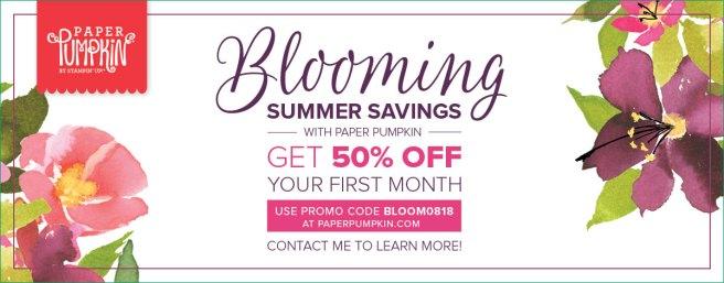 Blooming Summer Savings - Paper Pumpkin