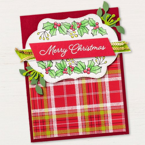 Stampin' Up! Blended Seasons Christmas card idea - visit www.juststampin.com for inspiration and ordering. Jeanie Stark StampinUp