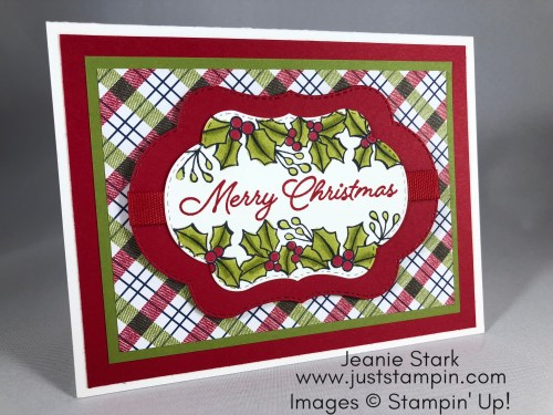 Stampin Up Blended Seasons Christmas card idea - Jeanie Stark StampinUp