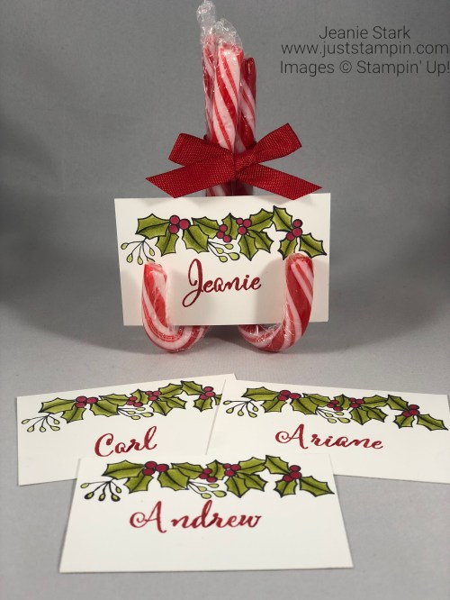 Stampin Up Blended Seasons and Make A Difference Personalized Name Card idea - Jeanie Stark StampinUp