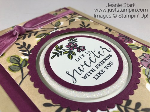 Stampin Up Detailed With Love Fun Fold friend card idea - Jeanie Stark StampinUp