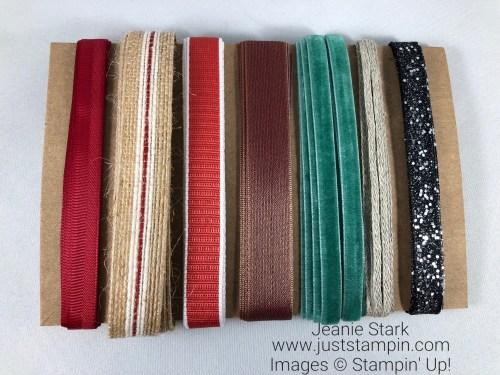 Stampin Up 2018 Holiday catalog ribbon share - To order visit juststampin.com Jeanie Stark StampinUp