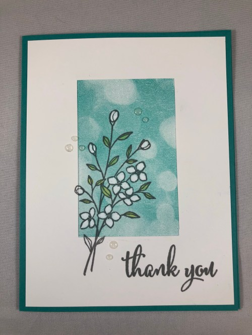 Stampin Up Southern Serenade Thank You card idea - Jeanie Stark StampinUp