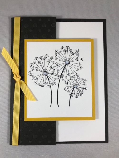 Stampin Up Dandelion Wishes fun fold get well card idea - Jeanie Stark StampinUp