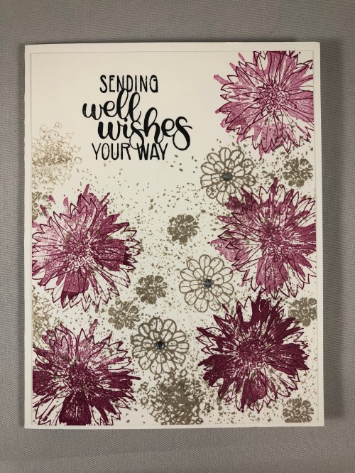 Stampin Up Touches of Textures and Dandelion Wishes Get Well card idea - Jeanie Stark StampinUp