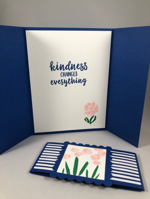 Stampin Up Abstract Impressions Gate Fold card idea - Jeanie Stark StampinUp