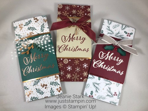 Stampin Up Merry Christmas to All Money card idea with Joyous Noel Specialty Designer Series Paper - Jeanie Stark StampinUp