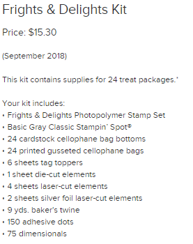 Frights & Delights kit supplies
