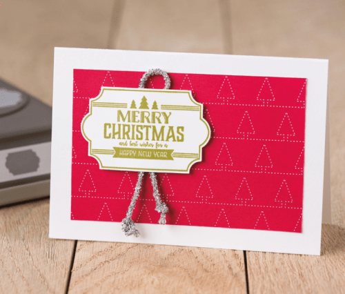 Stampin Up Labels to Love Christmas Card idea - Jeanie Stark StampinUp