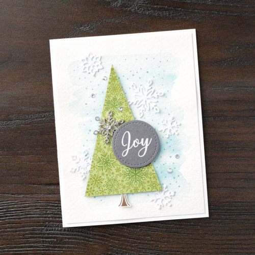 Stampin Up Snowflake Showcase Snow is Glistening Christmas Joy card idea - Jeanie Stark StampinUp