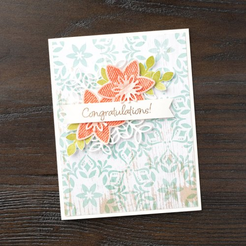Stampin Up Happiness Surrounds Congratulations card idea - Jeanie Stark StampinUp