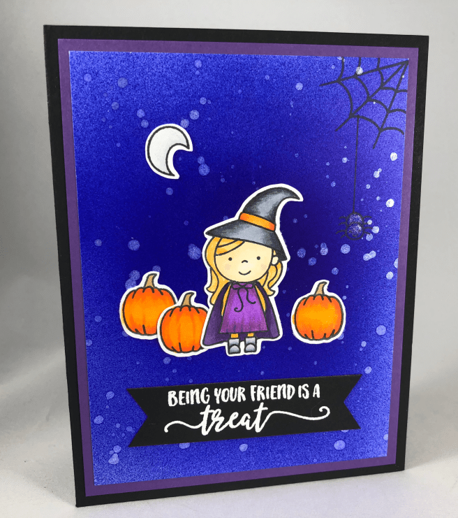 Halloween friend card