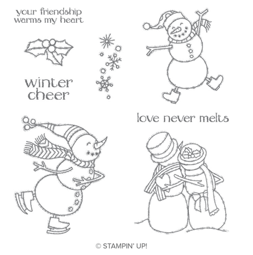 Stampin Up Spirited Snowman Stamp Set - Get it before it retires! Jeanie Stark - StampinUp