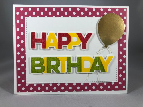 Birthday card idea - For more inspiration visit www.juststampin.com Jeanie Stark Stampin Up