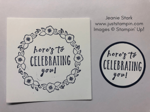 Stampin Up Perennial Birthday and Accented Blooms wreath - Jeanie Stark StampinUp