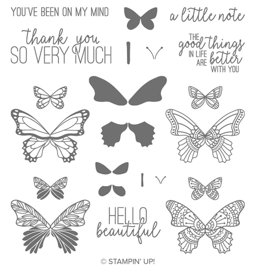 Stampin Up Butterfly Gala stamp set - for inspiration and ordering information visit juststampin.com - Jeanie Stark StampinUp