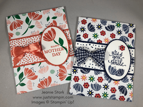 Stampin Up Happiness Blooms Mother's Day card idea - Jeanie Stark StampinUp