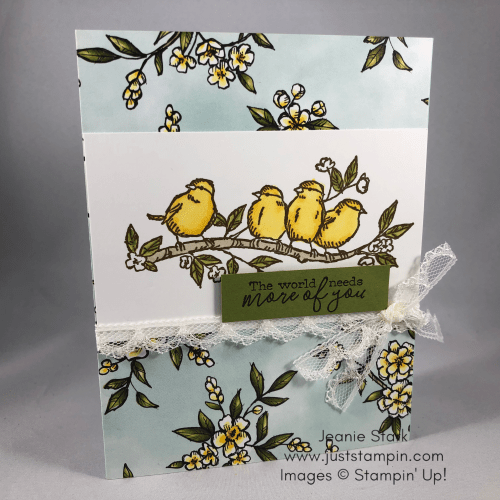 Stampin' Up! Free As A Bird all occasion card idea - Jeanie Stark StampinUp