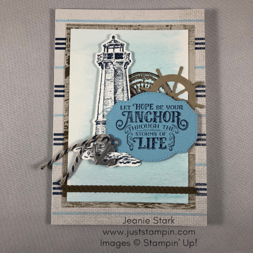 Stampin' Up! Sailing Home masculine card idea - Jeanie Stark StampinUp