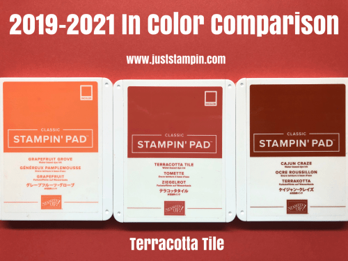 Stampin Up 2019-2021 In Color Comparison - Jeanie Stark StampinUp