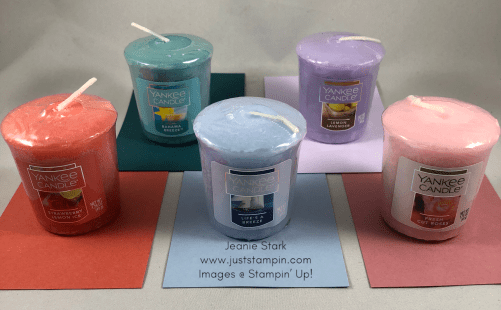 Stampin Up 2019 -2021 In Colors and Yankee Candle votives - Jeanie Stark StampinUp