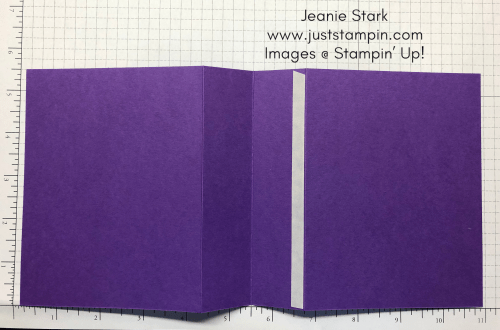 Stampin Up Gorgeous Grape pop up gift card/money holder idea - Jeanie Stark StampinUp