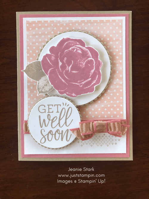 Stampin Up! Healing Hugs Get Well card idea - Jeanie Stark StampinUp
