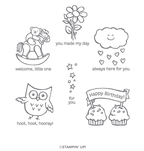 Stampin' Up! Hoot Hoot Hooray Stamp Set - for inspiration and ordering visit juststampin.com - Jeanie Stark StampinUp