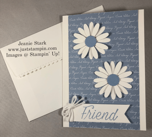 Stampin' Up! Deaside SPray Daisy card idea for a friend - Jeanie Stark StampinUp