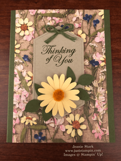 Stampin' Up! Good Morning Magnolia and Pressed Petals Thinking of You card idea - Jeanie Stark StampinUp